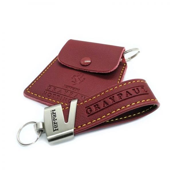 leather loop keyring 22