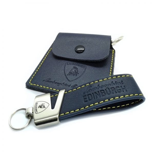 leather loop keyring 20