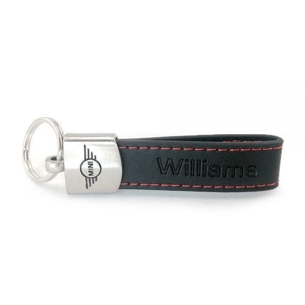 Mini Leather Loop Key Ring