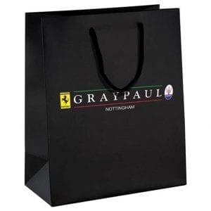 Gray Paul Paper Bag