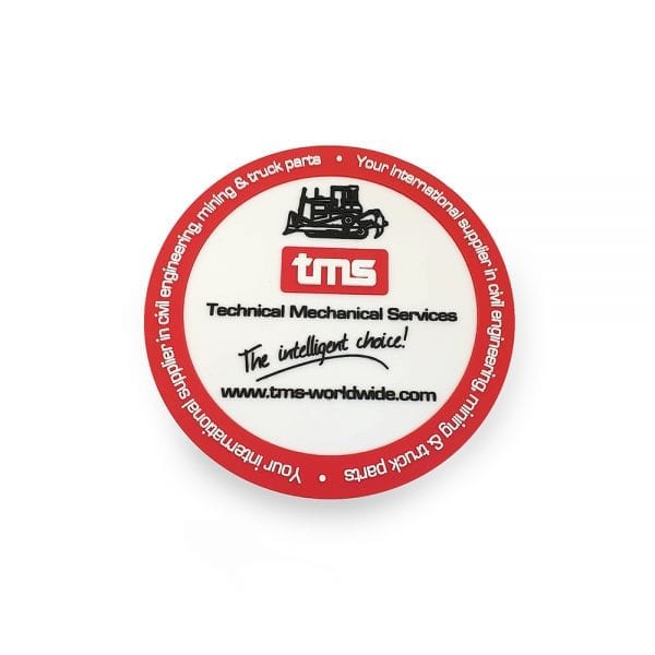 2D Vinyl Coasters - Branded